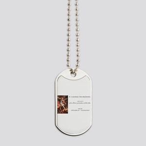 st. michael the archangel Dog Tags