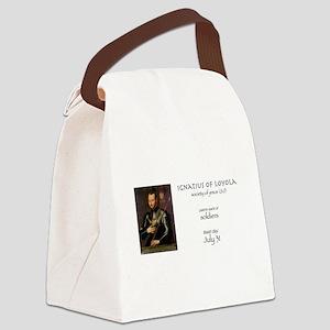 st. ignatius of loyola, patron sa Canvas Lunch Bag