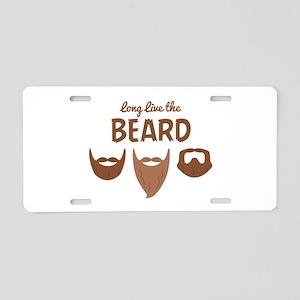 Long Live The Beard Aluminum License Plate