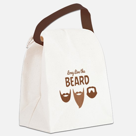 Long Live The Beard Canvas Lunch Bag