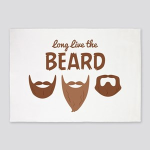 Long Live The Beard 5'x7'Area Rug