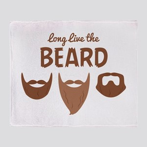 Long Live The Beard Throw Blanket
