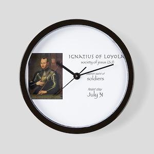 st. ignatius of loyola, patron saint of Wall Clock