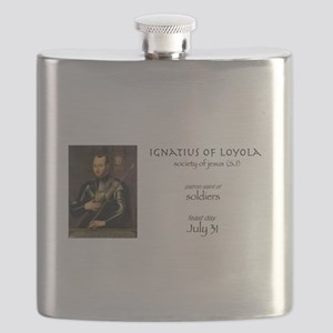 st. ignatius of loyola, patron saint of sold Flask