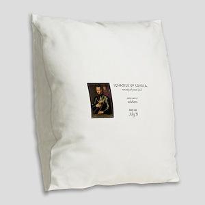 st. ignatius of loyola, patron Burlap Throw Pillow