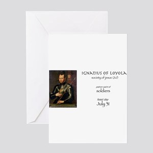 st. ignatius of loyola, patron sain Greeting Cards