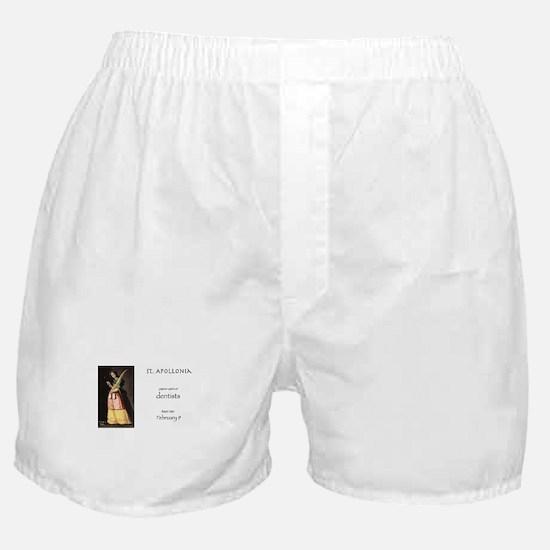 st. apollonia, patron saint of dentis Boxer Shorts