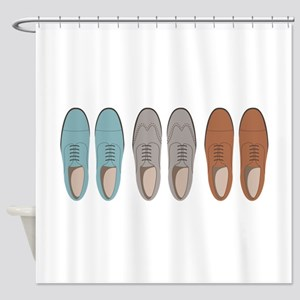 Mens Shoes Shower Curtain