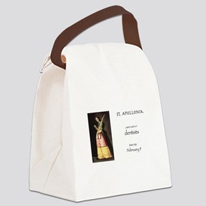 st. apollonia, patron saint of de Canvas Lunch Bag