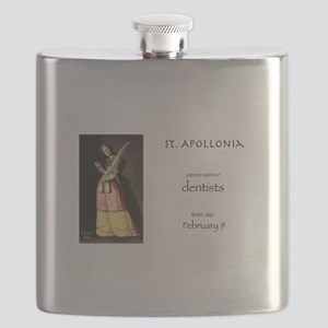 st. apollonia, patron saint of dentists Flask