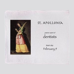 st. apollonia, patron saint of denti Throw Blanket