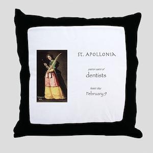 st. apollonia, patron saint of dentis Throw Pillow