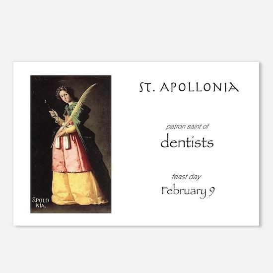 st. apollonia, patron sai Postcards (Package of 8)