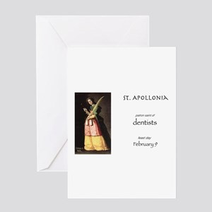 st. apollonia, patron saint of dent Greeting Cards