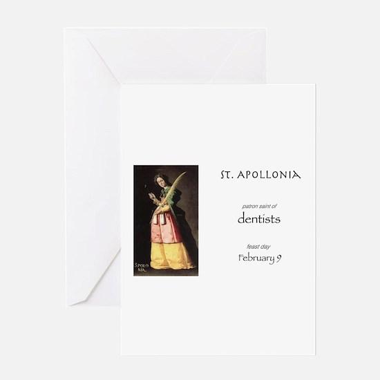 st. apollonia, patron saint of dent Greeting Cards