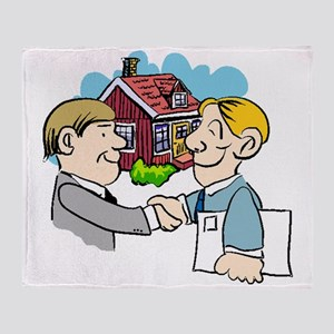 Real Estate Agent Throw Blanket