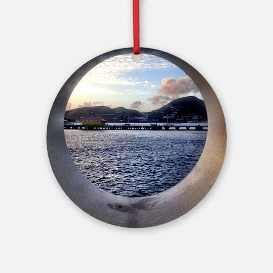 Cute Tsunami Round Ornament