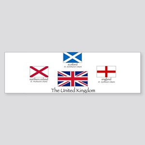 creation of UK flag Bumper Sticker