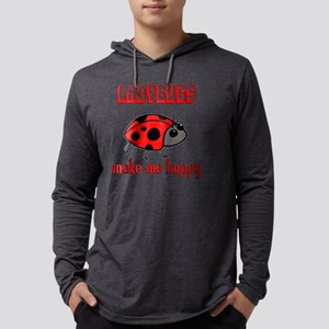 Ladybugs Make Me Happy Long Sleeve T-Shirt