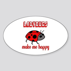 Ladybugs Make Me Happy Sticker