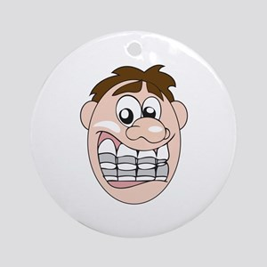 GUY WITH BRACES Ornament (Round)