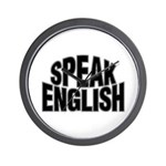 Speak English Wall Clock