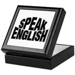 Speak English Keepsake Box