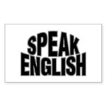 Speak English Rectangle Sticker
