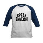Speak English Kids Baseball Jersey