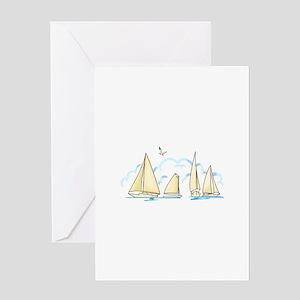 SAILBOATS Greeting Cards
