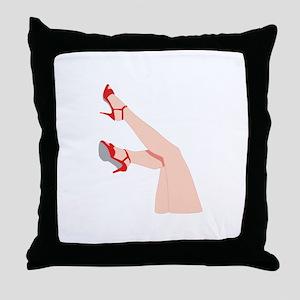 WOMANS LEGS Throw Pillow