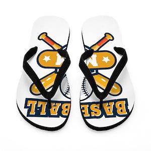 932caa0f9b1d73 Baseball Mom Flip Flops - CafePress