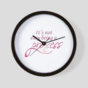 BEING A PRINCESS Wall Clock