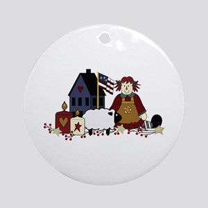 AMERICAN COUNTRY Ornament (Round)