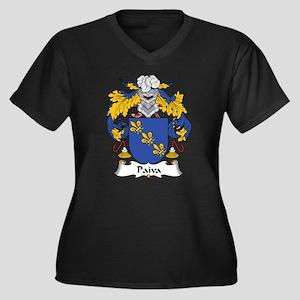 Paiva Women's Plus Size V-Neck Dark T-Shirt