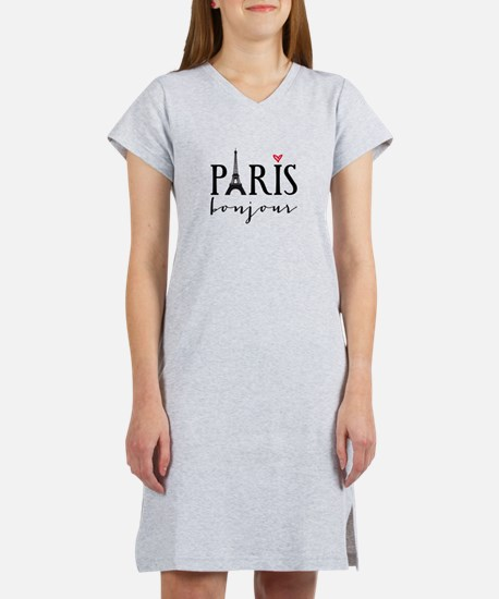 Paris bonjour Women's Nightshirt