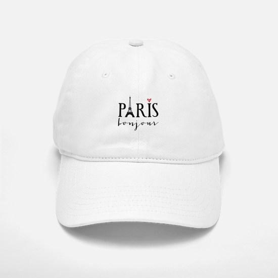 Paris bonjour Baseball Cap