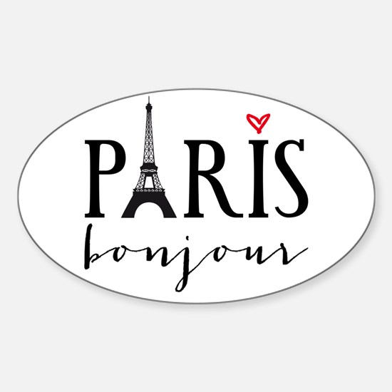 Paris bonjour Decal