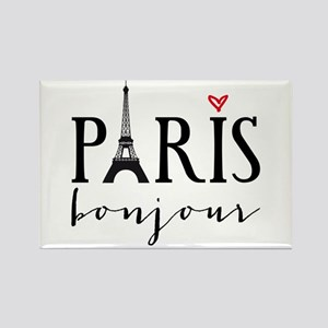Paris bonjour Magnets