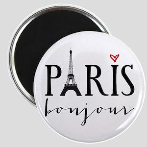 Paris bonjour Magnets