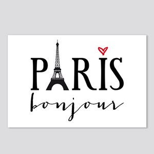 Paris bonjour Postcards (Package of 8)