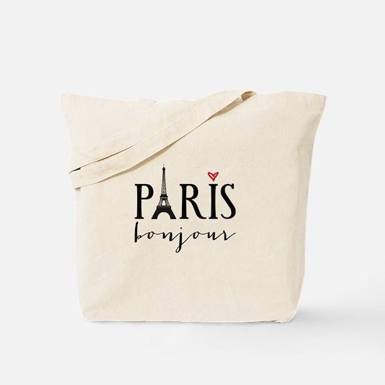 Paris bonjour Tote Bag