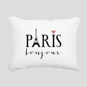 Paris bonjour Rectangular Canvas Pillow