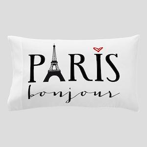 Paris bonjour Pillow Case