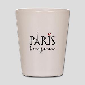 Paris bonjour Shot Glass