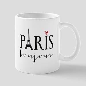 Paris bonjour Mugs