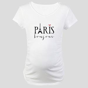 Paris bonjour Maternity T-Shirt