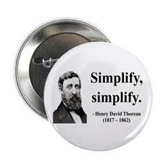 "Henry David Thoreau 2 2.25"" Button (100 pack)"