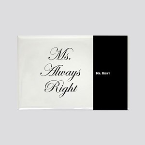 Mr Right Ms Always Right duvet 9 Magnets