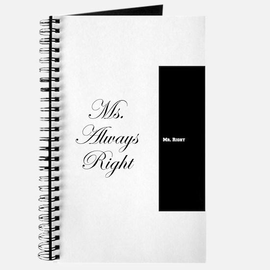 Mr Right Ms Always Right duvet 9 Journal